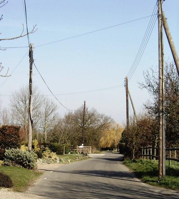 Hyde Wood Lane, near Ashingdon