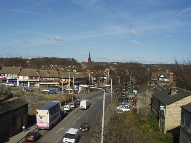 Otley Road and St Anne's Road from Arndale Centre