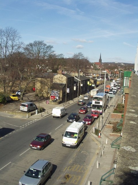 Otley Road from Arndale Centre