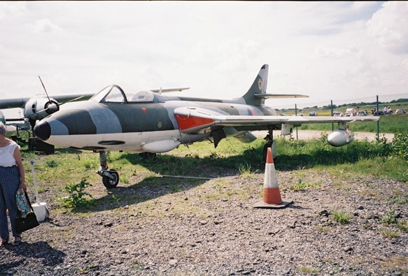 Hunter Aircraft at The Yorkshire Air Museum
