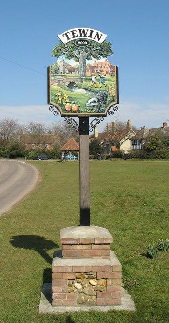 Tewin Village Sign