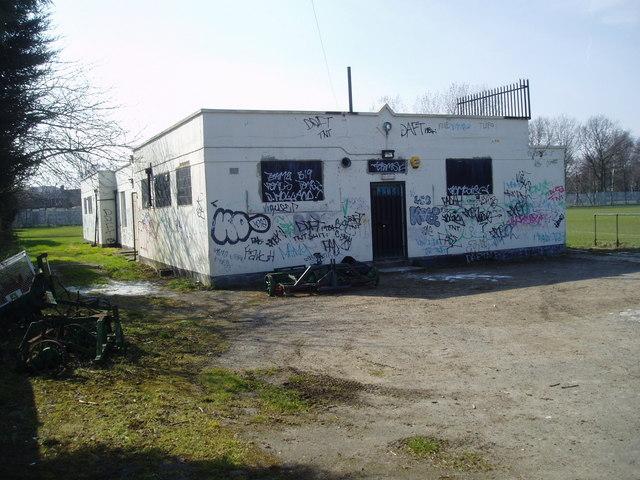 Football changing rooms, Charterhouse Sports club, Eltham, Kent