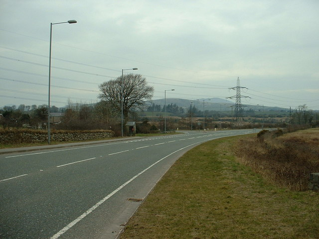 A487 Junction at Glan Dwyfach