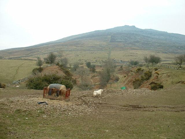 Farmland near Mynydd Graig Goch