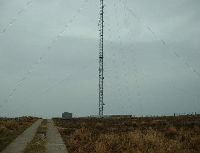 The bottom half of Nebo TV mast