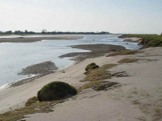Sandbank in River Eden