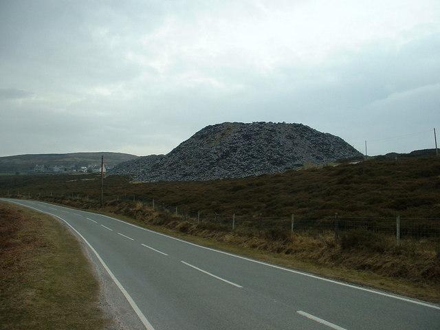 Disused slate tip near Penygroes