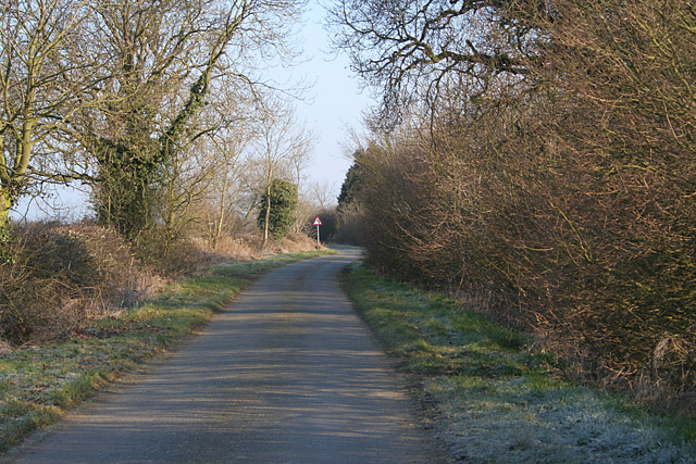 Old Gate Road near Thrussington, Leicestershire