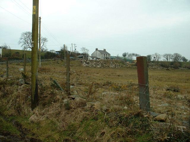 Farmland near Groeslon