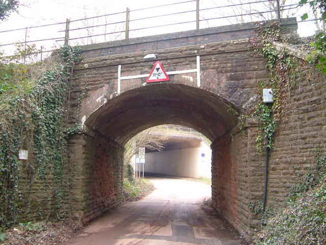 Two bridges over Langaton Lane