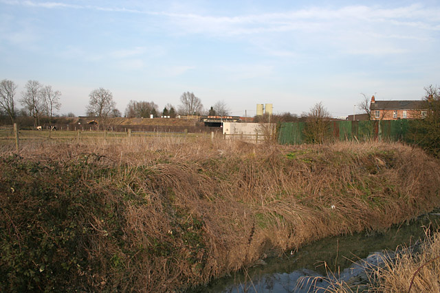 Railway embankment, Syston, Leicestershire