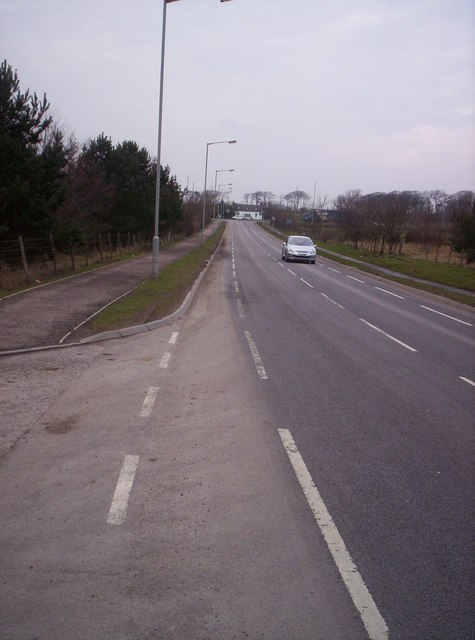 Road into Portlethen from the South