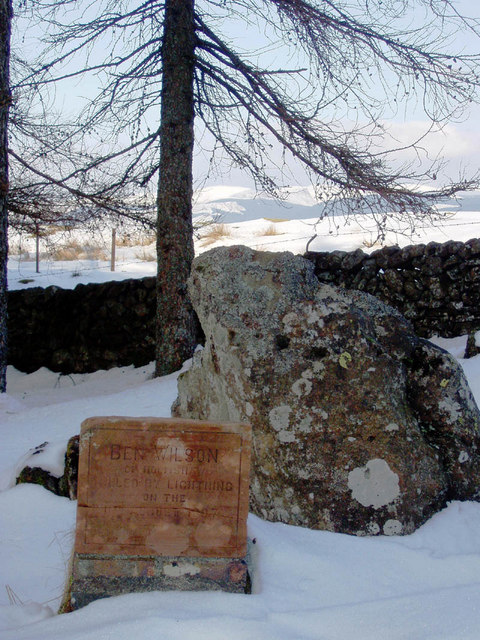 Memorial to 'Ben Wilson'