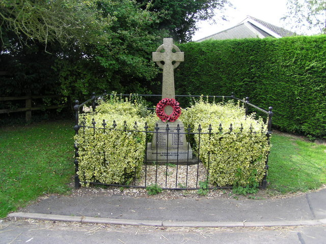 War Memorial at Little Carlton, Lincolnshire