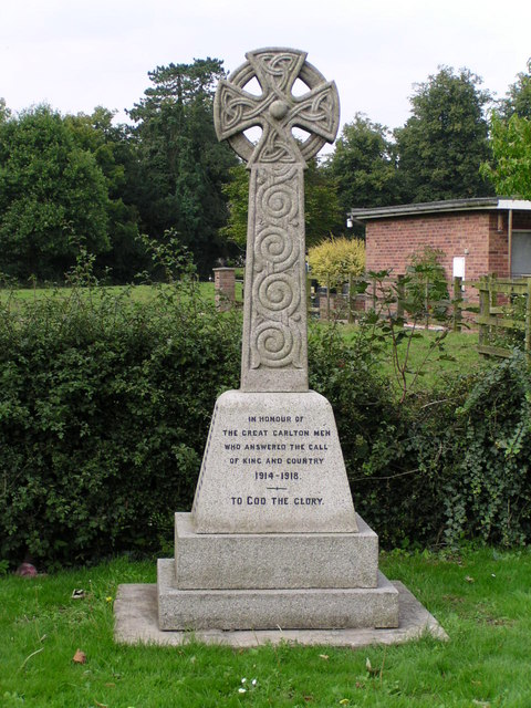 War memorial at Great Carlton, Lincolnshire