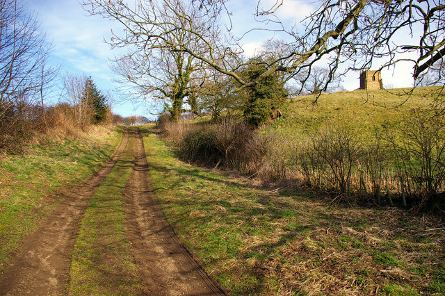 The Track up to Walesby Church