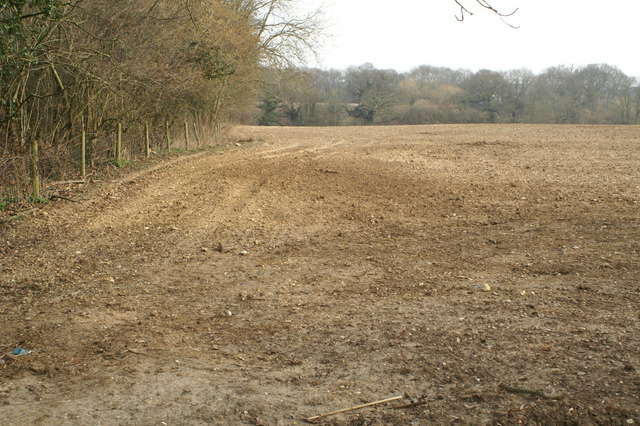 Farmland north of Fairbourne Lake