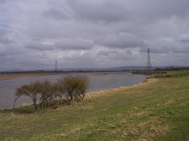 Pylons over the River Severn