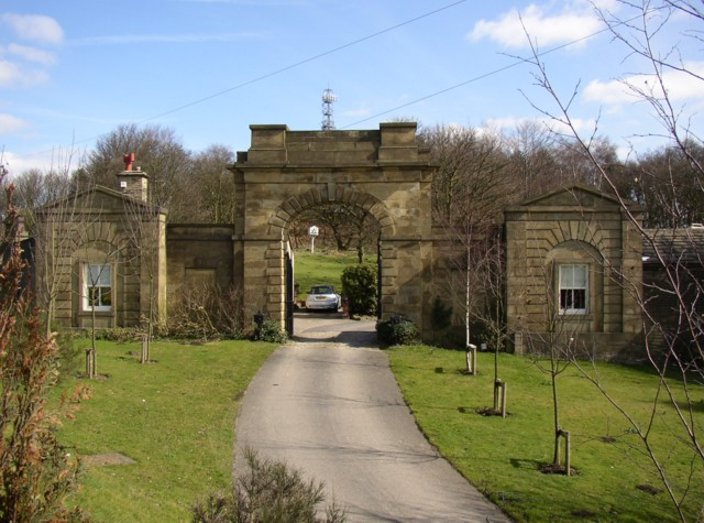 The entrance to Fixby Park from New Hey Road, Fixby