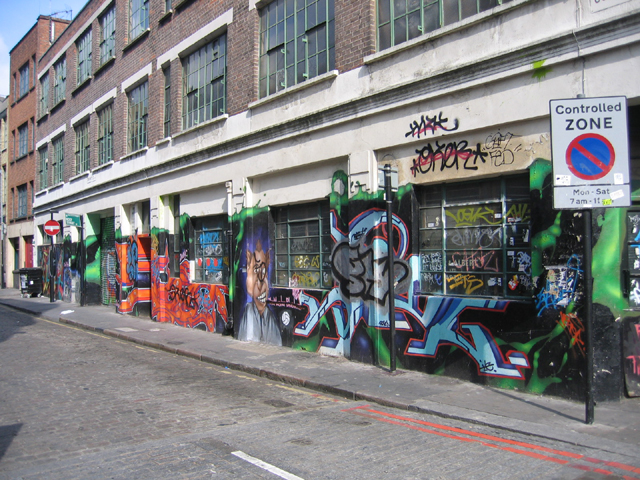 Graffiti, Coronet St, Shoreditch, N1