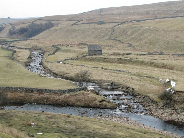 Whitsundale Beck joins the River Swale