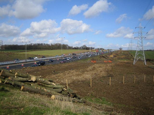 M1 Motorway near Redbourn