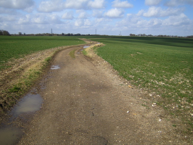 The Hertfordshire Way near Flamsteadbury Farm