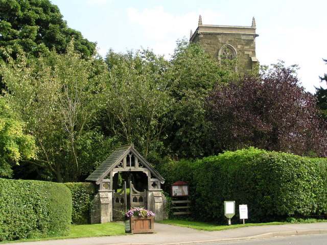 Lych Gate and tower of St. Edith's Grimoldby, Lincolnshire