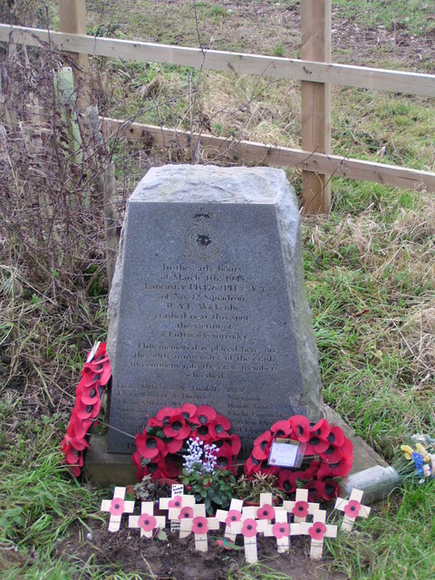 R.A.F. War memorial near Ulceby Cross, Lincolnshire