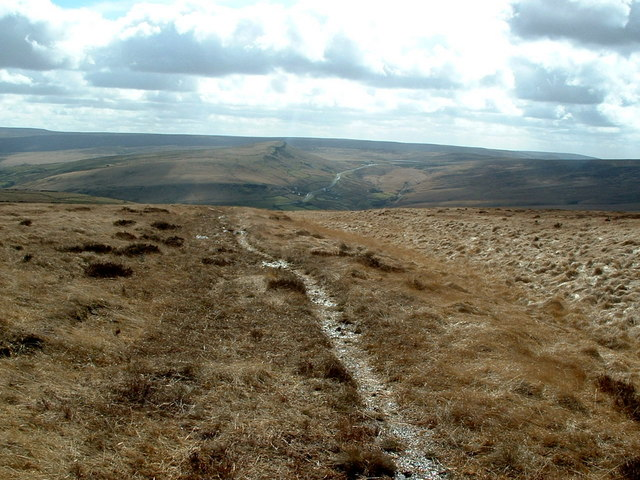 Footpath crossing Cupwith Hill Moss