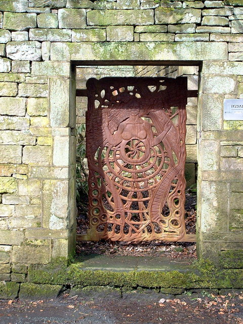 Ornate Gate, Waters Road, Hey Green