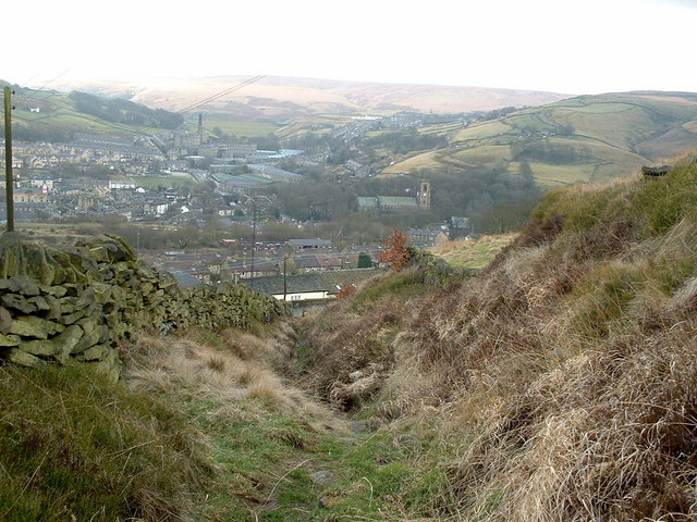 Path descending into Marsden