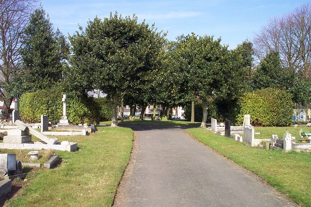 Centre of Cannock Cemetery
