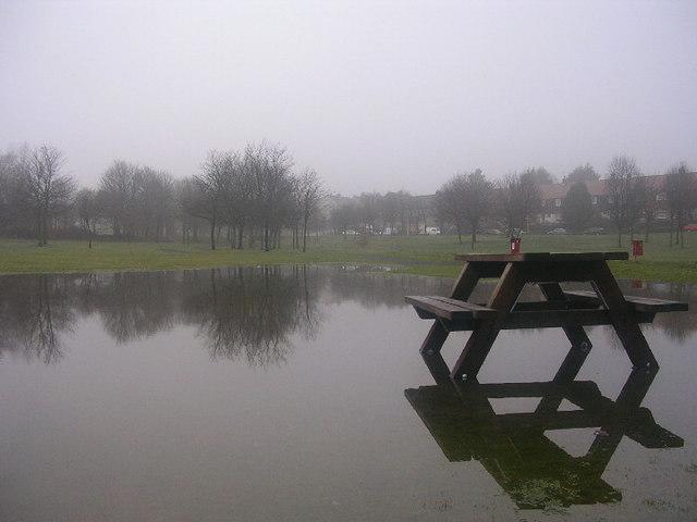 Flooding at Summerhill, Aberdeen