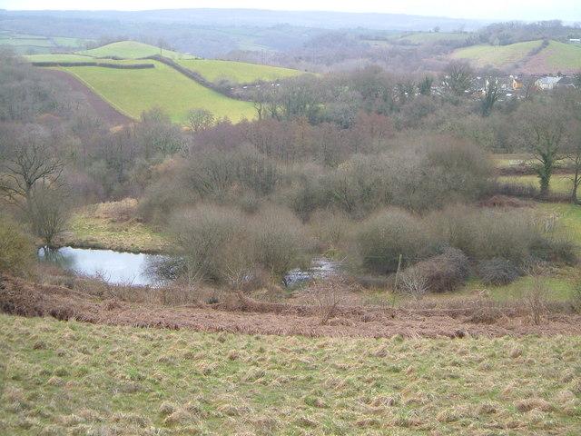 Pond near Teign Village