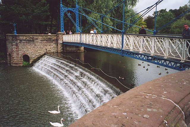 Weir and Footbridge Jephson Gardens