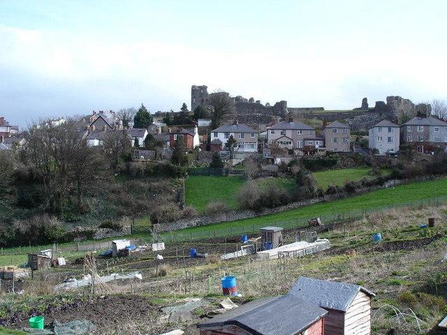 Allotments and castle