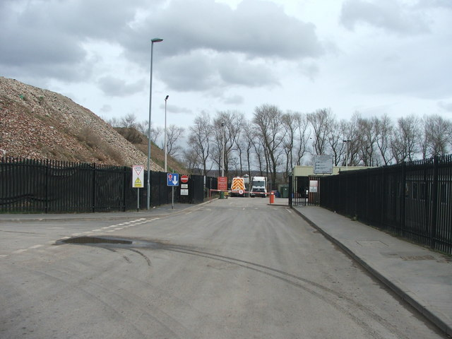 Council depot at Cross Green.