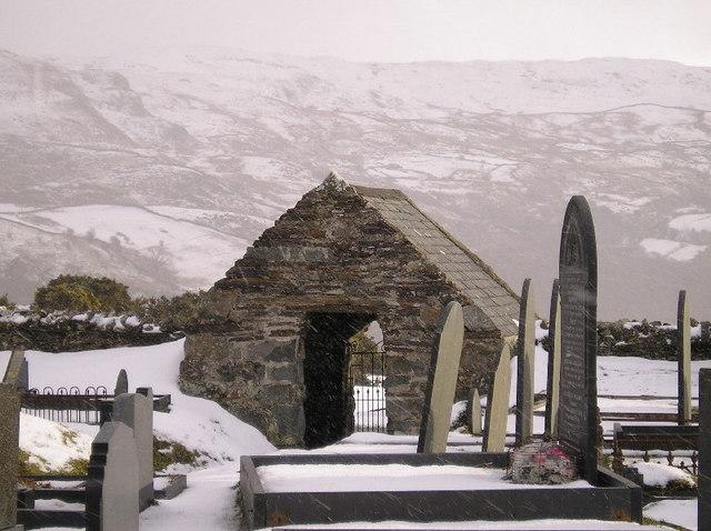 Llandecwyn church entrance