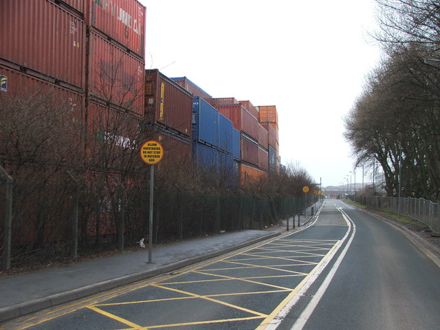 Containers at Stourton.