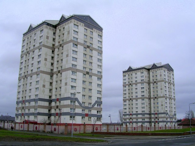 Glen Court and Millbrae Court, Coatbridge