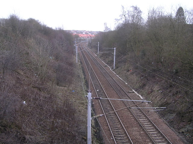 Railway near Rosehall, Coatbridge