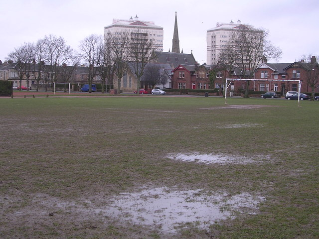 Waterlogged Football Pitch, Rosehall, Coatbridge