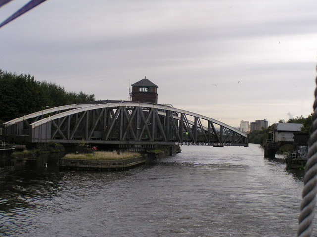 Barton Road Bridge from Manchester Ship Canal
