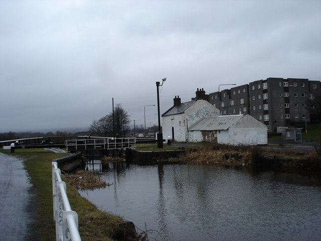Top of Maryhill Locks Forth and Clyde canal