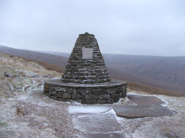 Millennium cairn on Cliff Gate Road.