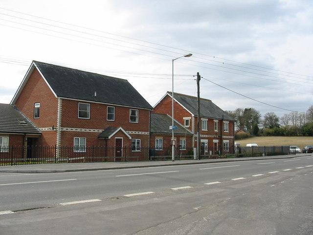 Housing opposite the Churchill arms Alderholt Dorset