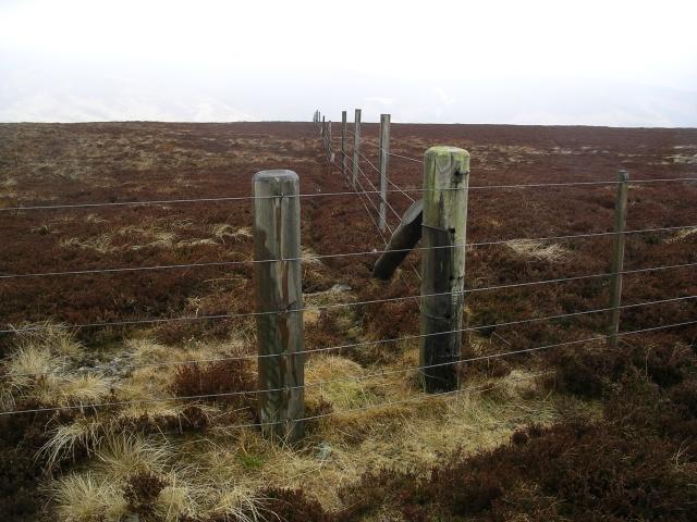 Fence junction, Glenrath Hill