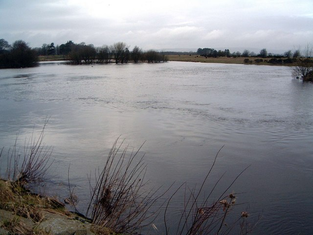 The Creels, River Annan, in flood
