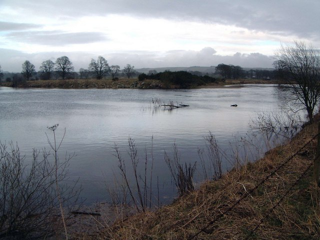 River Annan at The Creels, in flood